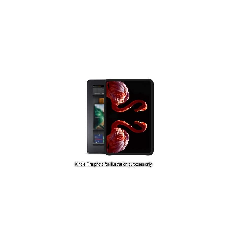 Pink Flamingos Photo Kindle Fire Black Case Cover Skin