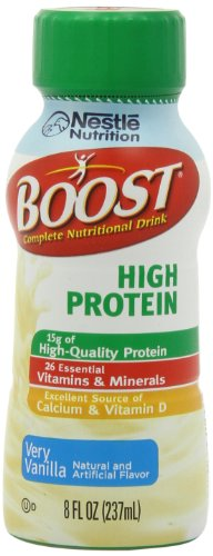 Boost High Protein Vanilla Ready To Drink, 8Oz Bottles-24 Count front-674770