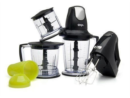 Ninja Master Prep Professional 450-Watt Food Processor, Blender and Hand Mixer Bundle