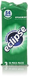 Eclipse Gum, Spearmint (3 Pack, 18 Co…