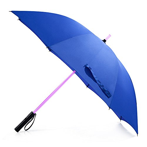 Bestkee LED Lightsaber Umbrella - Laser Sword Light Up Golf Umbrellas with 7 Color Changing On the Shaft / Built in Torch at Bottom (Blue) (Umbrella Solar Protection compare prices)