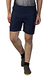 Greenwich United Polo Club Men's Polyester Shorts (GUPC23_Blue_Large)