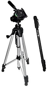 Zeikos ZE-TR101A 72-Inch Photo / Video Tripod Tripod + Zeikos ZE-MP72 72-Inch Heavy Duty Monopod for all Cameras/Camcorders
