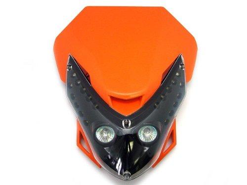Unverisal Motorcycle Supermoto Supercross Motocross Off-Road Enduro Dirt Bike Dual Sport Orange Headlight Fairing Kit for Yamaha KTM Honda Kawasaki BMW Suzuki