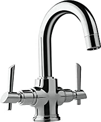 Hindware F110009CP Immacula Centre Hole Basin Mixer Without Pop Up W.Sy With 450Mm Flexible Hose (Chrome)