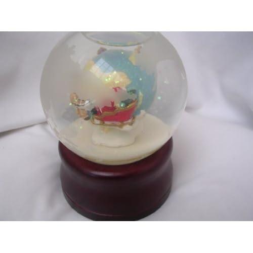 Christmas Musical Snow Globe Revolving 5 Collectible ; Joy to the World