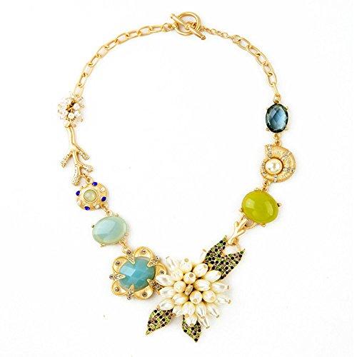 verde-y-azul-crystal-pearl-flores-y-playa-colgante-declaracion-de-moda-collar-de-18-
