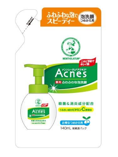 アクネス 薬用ふわふわ泡洗顔(詰) 140ml
