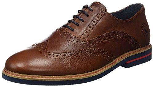 El Ganso Uomo Zapato Oxford Piel Marrón Scarpe Marrone Size: 44