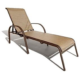 Strathwood Textilene Chaise Lounge Chair