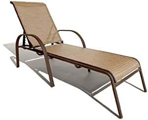 Outdoor chaise lounge chairs home decor and furniture deals for Chaise aluminium textilene