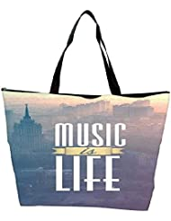 Snoogg Music Is Life Waterproof Bag Made Of High Strength Nylon