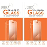 Johra 9H 2.5D Real HD+Tempered Glass Screen Scratch For LYF Flame 5 Tempered Glass - Pack Of 2