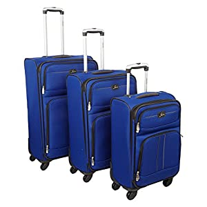 Womens Skyway Blue 4 Wheeled Suitcase Ladies