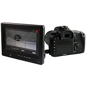 COOLLCD HD2 7-Inch HDMI Monitor with HDMI in HDMI out Component in Composite in for DSLR CANON 5D 7D