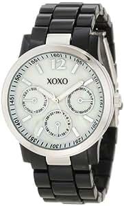 XOXO Women's XO5519 Black Bracelet with Silver-Tone Case Watch