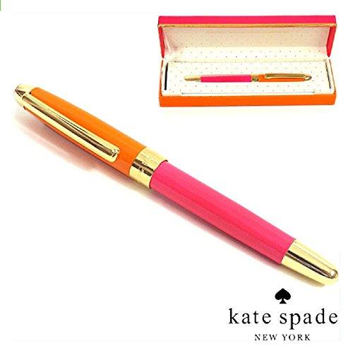 kate spade new york オレンジ&ピンク ボールペン 専用ケース付き