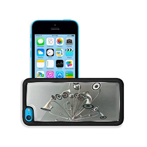 Variety Silver Metallic Speaker Design Apple Iphone 5C Snap Cover Premium Aluminium Design Back Plate Case Customized Made To Order Support Ready 5 Inch (125Mm) X 2 3/8 Inch (62Mm) X 3/8 Inch (12Mm) Luxlady Iphone 5C Professional Cases Touch Accessories G