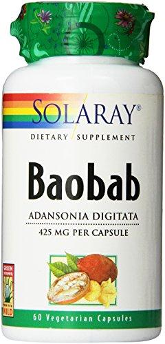 Solaray Baobab Supplement, 425mg, 60 Count