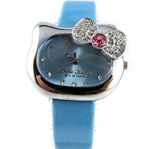 Watch design 'Hello Kitty'blue.