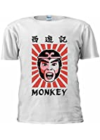Monkey Magic Retro Graphic 70s 80s kung fu Martial Arts Unisex T Shirt Top Men Women Ladies