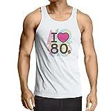 男性用ベストビンテージ古着 80年代のTシャツ (XXL ホワイト多色)