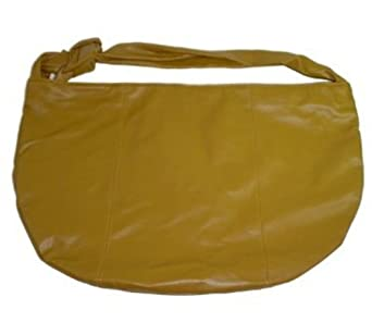 Large Mustard Hobo Shoulder Handbag Tote