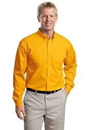 Port Authority Long Sleeve Easy Care Shirt, Athletic Gold, S