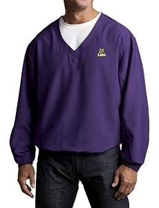 NCAA Mens Louisiana State Fightin Tigers College Purple Windtec Astute V-Neck... by Cutter & Buck