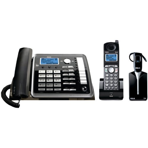 ViSYS 25270RE3 Two-Line Corded/Cordless Phone System with Cordless Headset image
