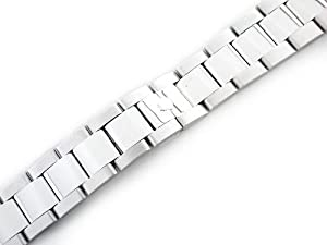 Mens 18kw Oyster Watch Band for Rolex 20mm Hidden Clasp