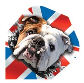 Dart Bull Dog World Poly Flight (Bulldog Dart Board compare prices)