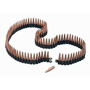 """Home And Leisure Online New Plastic Bullet Belt 5"""" Rambo Army Fancy Dress"""