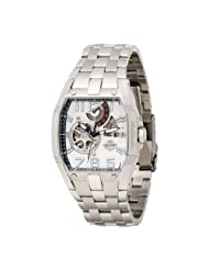 Orient Men's CFTAB002W Power Reserve Semi-Skeleton White Automatic Watch