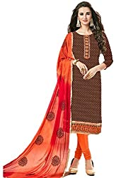 Riya Fashions Women's Cotton Unstitched Dress Material (R20006_Multicolor_Free Size)