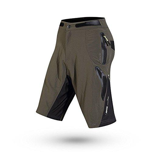 TRUVELO Mens Mountain Loose-fit Biking Shorts Padded Coolmax