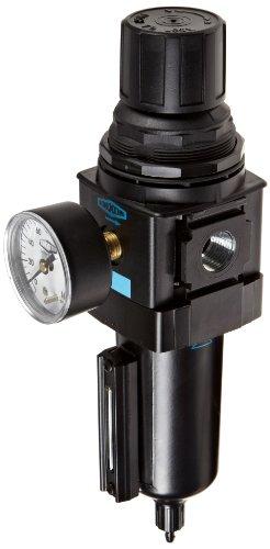 "Dixon B28-04MGMB Manual Drain Wilkerson Standard Filter/Regulator with Metal Bowl and Sight Glass, 1/2"" Size, 165 SCFM Flow, 250 psig Pressure"