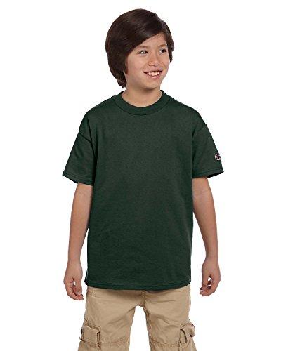 Champion - Maglietta sportiva - Asimmetrico - Maniche corte  -  ragazzo verde verde scuro XL