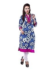Rash Collection Women's Cotton Collar Neck Kurti - B00X3TKN6Q