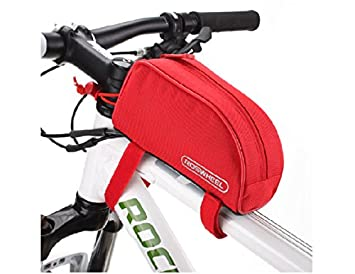 Roswheel Bicycle Pannier Cycling Bike Frame Pannier Front Tube Bag Package Red