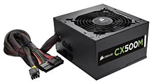 Corsair Alimentation PC CXM Series CX500M - 80 PLUS Bronze ATX 500W Modulaire (CP-9020059-EU)