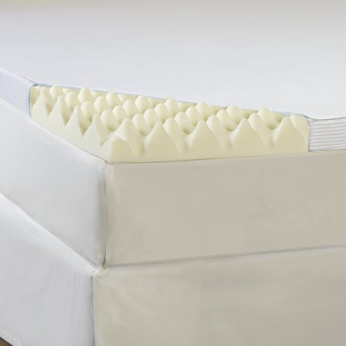 Hotel Comfort 3-Inch Big Comfort Memory Foam Topper With Polysilk Cover, Queen front-563513