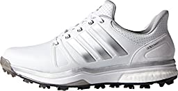 adidas Men\'s Adipower Boost 2 Golf Cleated, FTWR White/Silver Metallic/Core Black, 14 M US