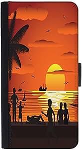 Snoogg Beachdesigner Protective Flip Case Cover For Htc Desire 816