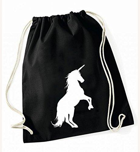 Unicorn-Borsa sportiva, colore: nero