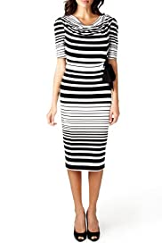 Per Una Striped Bodycon Dress [T62-3144H-S]