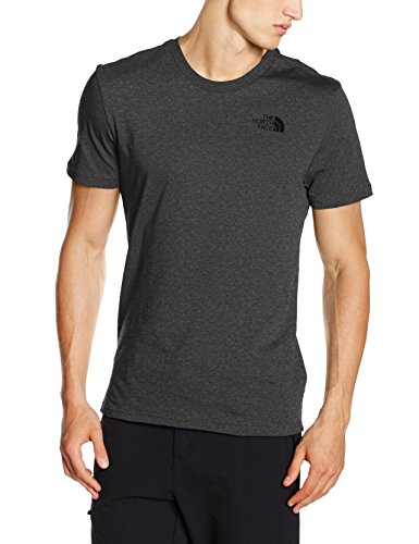North Face M S/S Simple Dome Tee Maglia a Maniche Corte, Grigio/Tnfmdgyhtr(Std), M