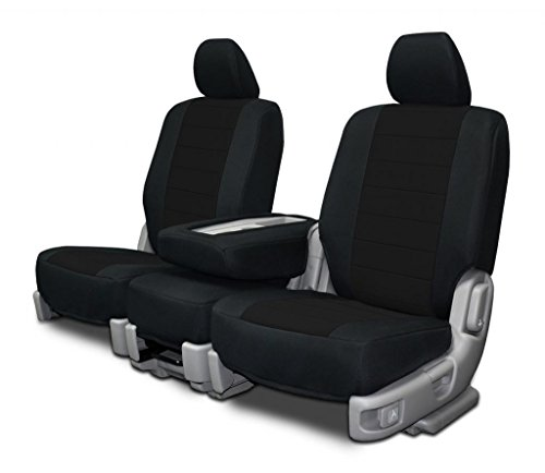 Custom Fit Seat Covers For Dodge Ram Low Back Style Seat Black Neoprene Fabric