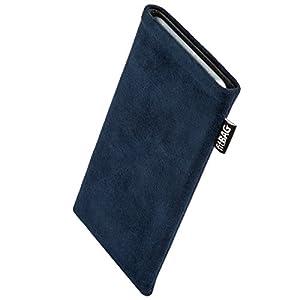 fitBAG Classic Blau Handytasche Tasche aus original Alcantara mit Microfaserinnenfutter für Apple iPhone 5c 16GB 32GB