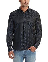Dennison Men's Casual Shirt (SS-16-425_36_Navy)